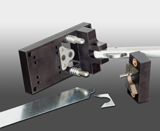 Drive cleat notcher - parts view